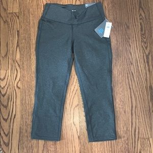 Grey cropped athletic leggings